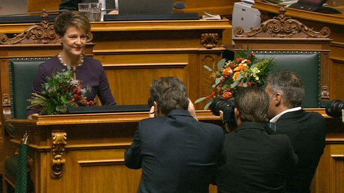 Simonetta Sommaruga, élue présidente de la Suisse