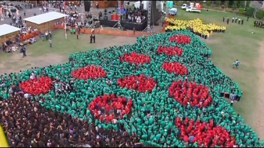 Honduras sets new world record for largest human Christmas tree