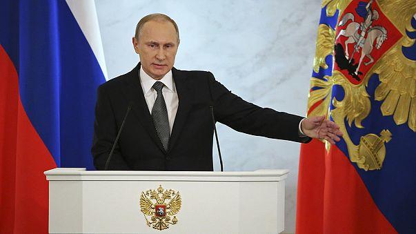Ucrânia e economia no centro do discurso de Putin
