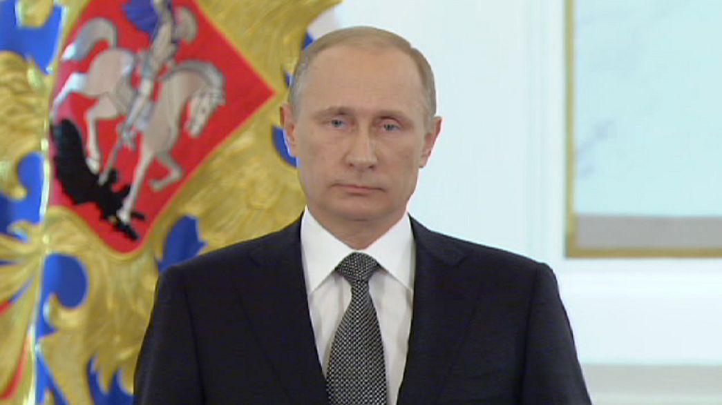 Putin dice que sin la crisis en Ucrania, Occidente hubiera inventado otra excusa para imponer sanciones a Rusia