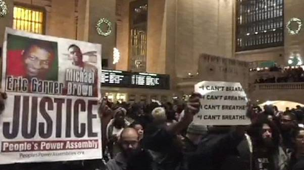 'I can't breathe': US protests spread over 'chokehold' death of Eric Garner