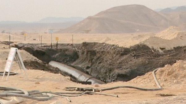 Millones de litros de petróleo derramados en el sur de Israel