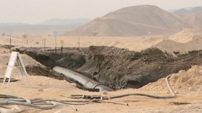 Разлив нефти на юге Израиля