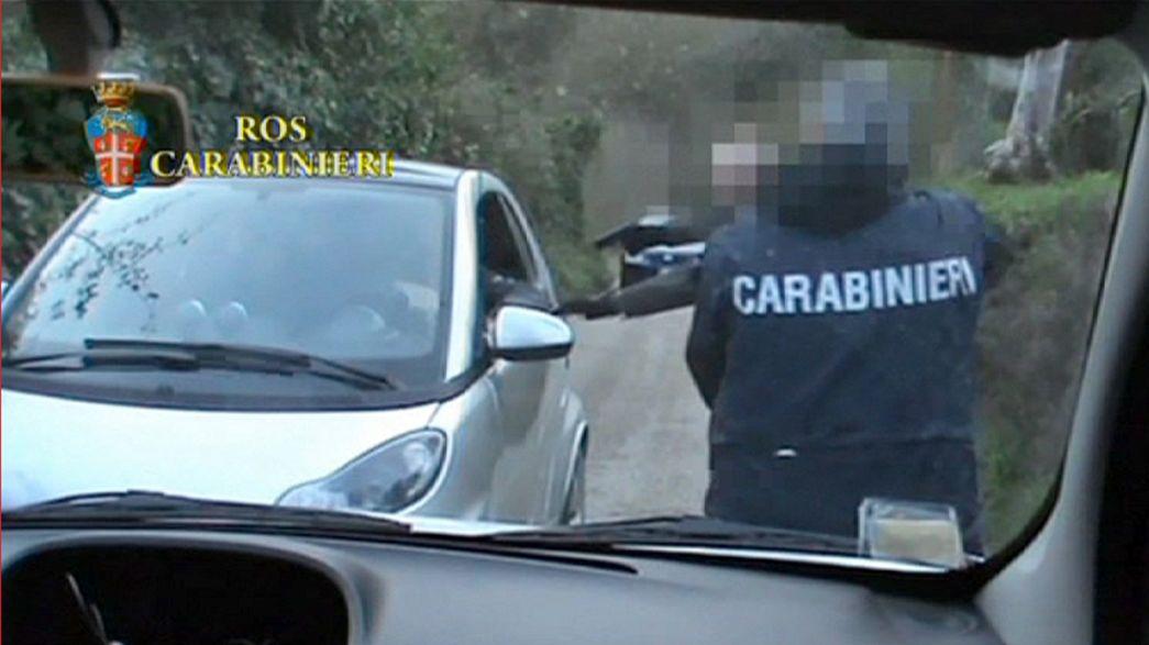 Imágenes de la detención del presunto cerebro de la red de corrupción en Roma