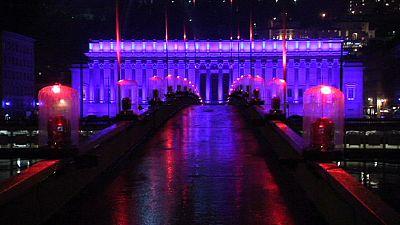 Virgin Mary meets laser tech in Lyon Festival of Lights