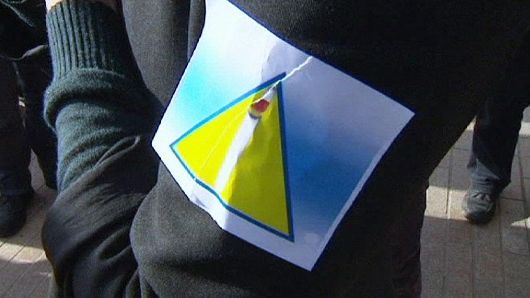 Желтый треугольник  вызвал протесты во Франции