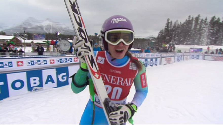Maze cracks Lake Louise duck to win downhill