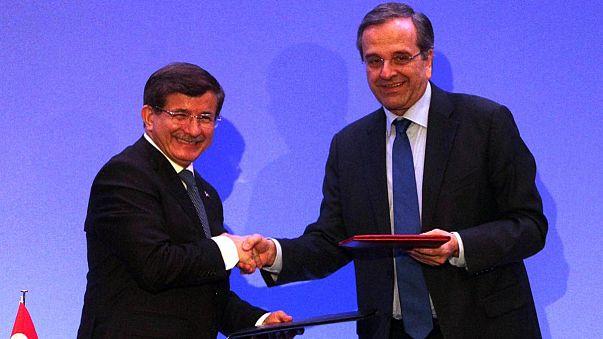 في غياب التوافق لحل الأزمة القبرصية، آنتونيس ساماراس وداوود أوغلوا يكتفيان بالتعاون الاقتصادي
