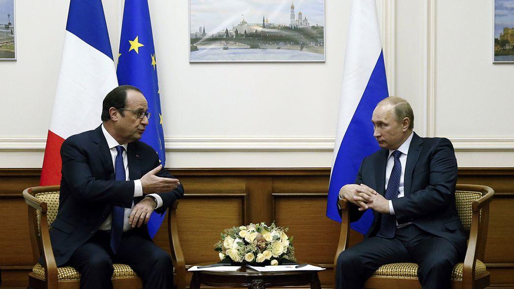 Überraschender Arbeitsbesuch: Hollande trifft Putin