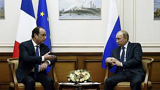 فرانسوا هولاند وبوتين يبحثان الأزمة الاوكرانية في موسكو