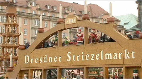 Dresda: Una gigantesca torta di natale