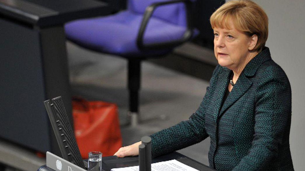 Angela Merkel carga de nuevo contra Vladimir Putin y advierte a Francia e Italia