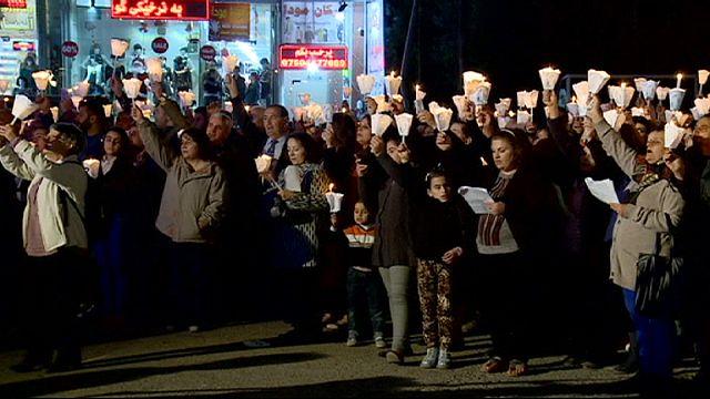 Kuzey Irak'ta yaşayan Hristiyan mülteciler 'Işık Bayramı'nı kutladı