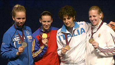 Gherman glides to epee gold