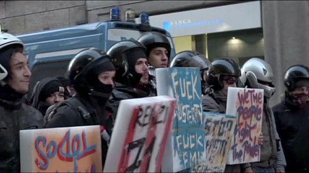 تظاهرات در برابر اپرای لااسکالا به خشونت گرایید