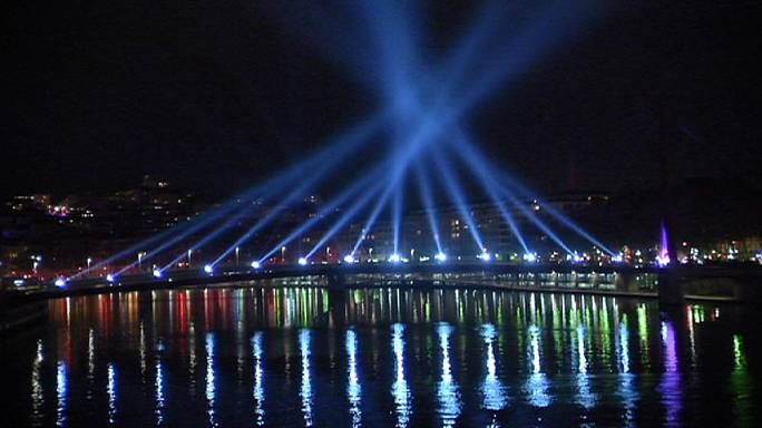 Light Festival illuminates French city of Lyon
