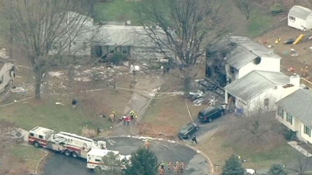 6 muertos en el accidente de un avión privado en un suburbio de Maryland