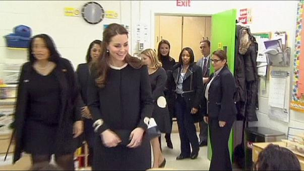 Britain's Wills and Kate arrive in US on three-day trip