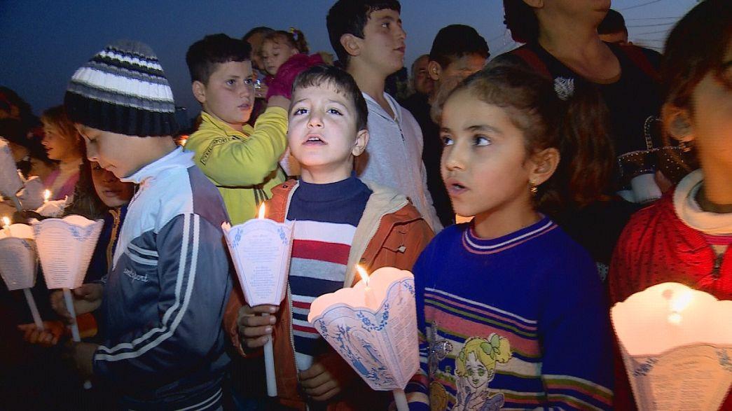 La Fiesta de las Luces ilumina el día a día de los refugiados de Erbil