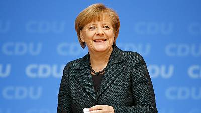German Chancellor Angela Merkel re-elected leader of CDU party