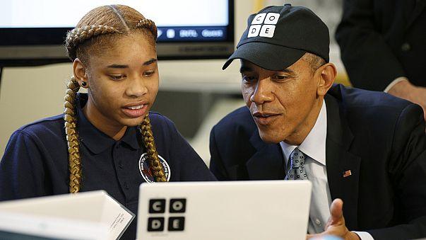Barack Obama, premier président à écrire un programme… informatique