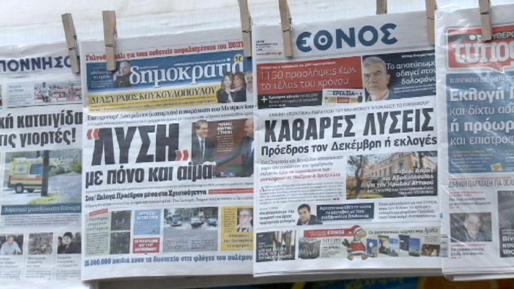 Presidenciais antecipadas geram novo clima de incerteza na política grega