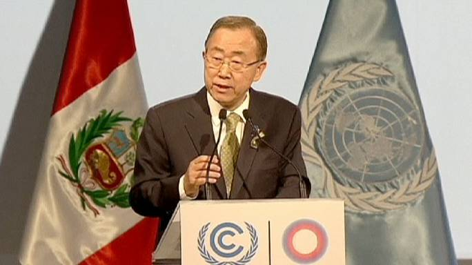 """Clima, Ban Ki Moon al COP 20 di Lima: """"Più veloci verso la green economy"""""""