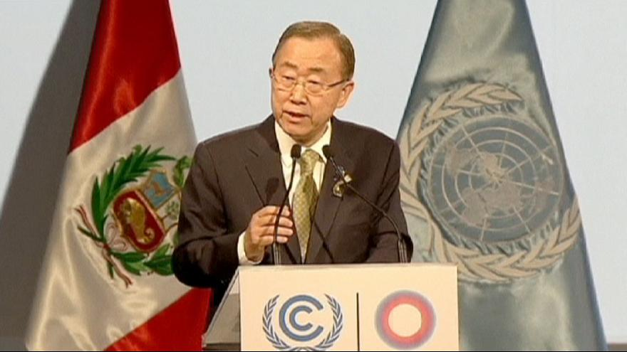 Ban gives stark climate change warning to UN talks in Lima
