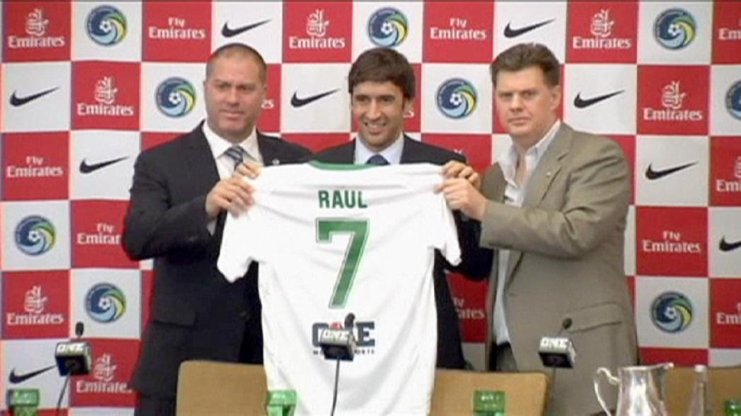 Former Real star Raul unveiled at Cosmos