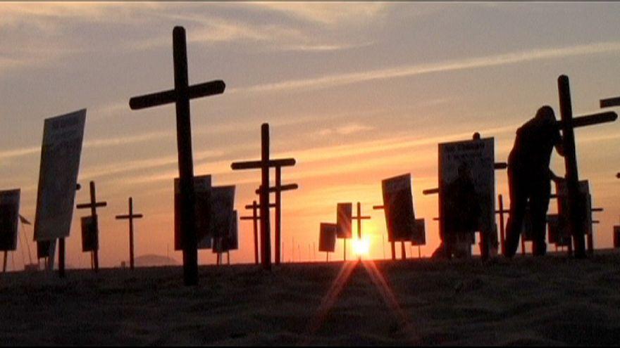 161 crosses mark police deaths in Rio de Janerio