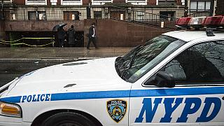 Video: Knife-wielding attacker shot dead at synagogue