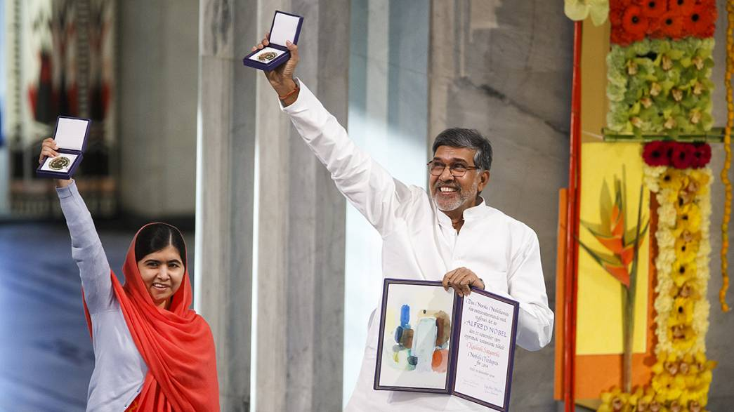 Nobel Peace Prize presented to children's champions Malala and Satyarthi