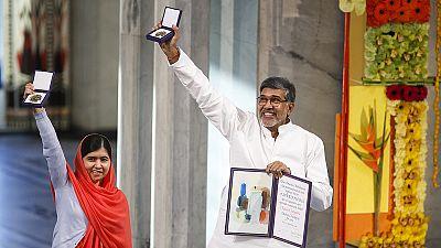 Consegnati a Malala e a Kailash Sathyarty i Premi Nobel per la Pace