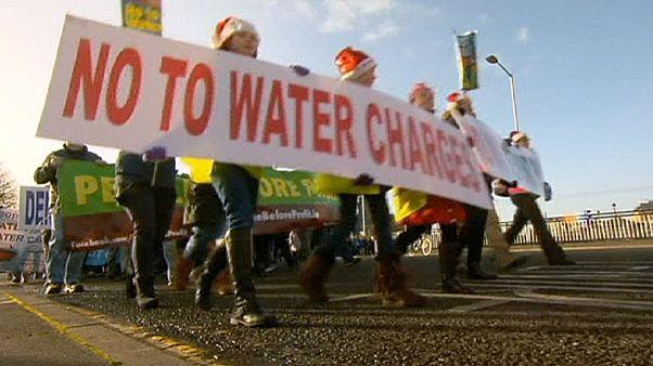 A vízdíj ellen tüntettek az ír fővárosban