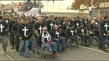 Croatie : défilé des vétérans de la guerre contre les suicides