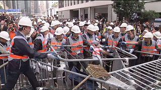 Comienza el desalojo del principal campamento de los manifestantes en Hong Kong