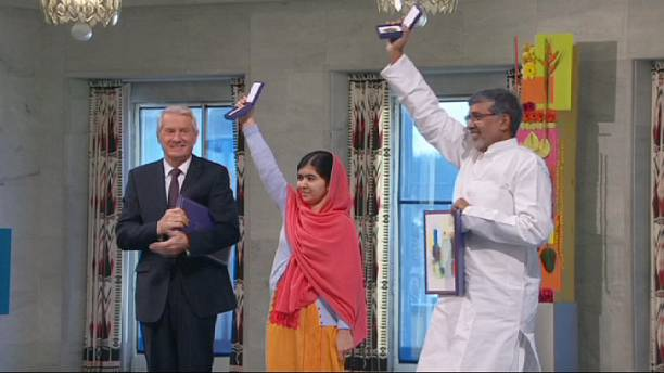 Children's champions receive Nobel Peace Prizes