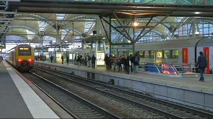 إضراب سائقي القطارات في بلجيكا