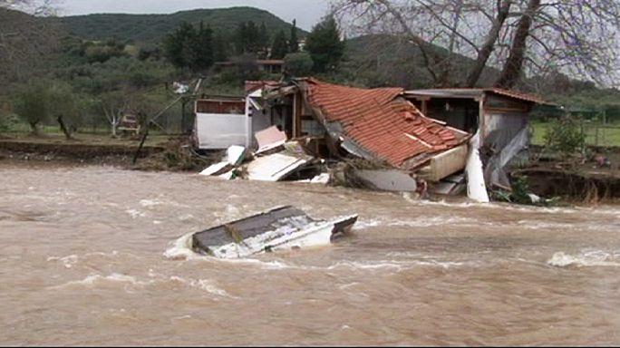 Intempéries et inondations de la Grèce au Royaume Uni