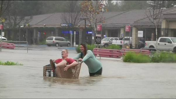 Inundaciones y fuertes vientos en San Francisco