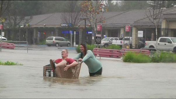 Le Nord de la Californie sous les eaux