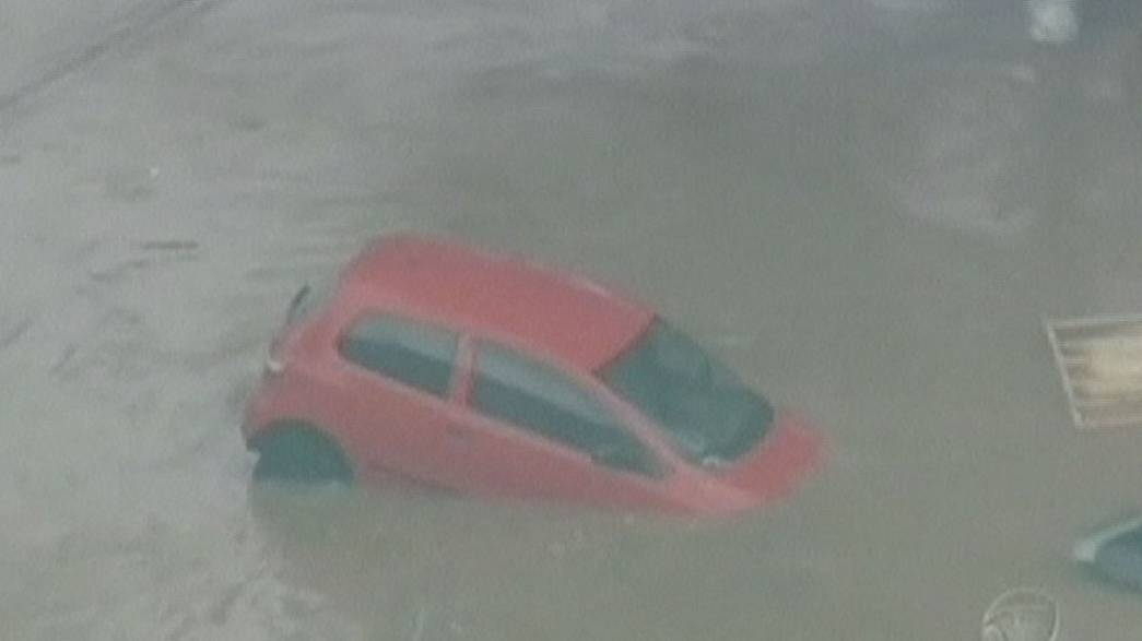Parts of Sao Paolo under water after 48 hours of heavy rain
