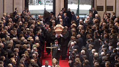 World royalty attends Belgian Queen Fabiola's funeral