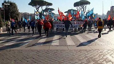 L'Italie paralysée, incidents à Milan et Turin
