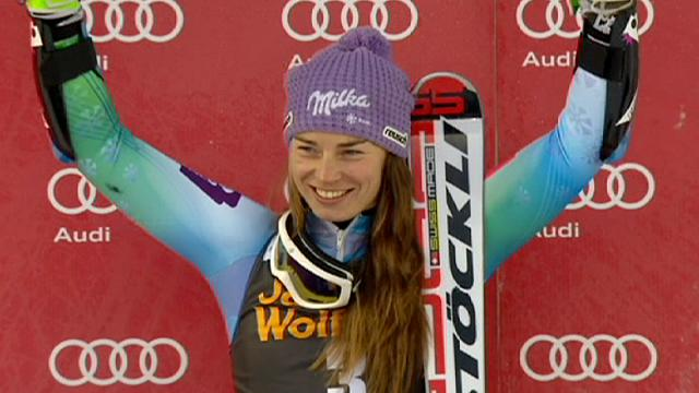 Maze wins Are giant slalom as she clinched her third victory of the season.