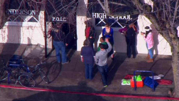 Three teenagers shot outside high school in US