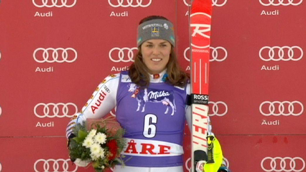 Slalom : doublé Suédois à Are