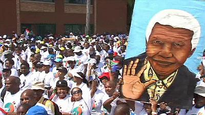 Anniversaire de la mort de Mandela: une dernière marche à Pretoria