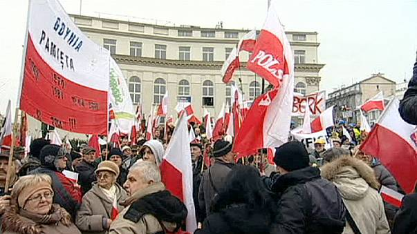 تظاهرات معترضان به نتیجه انتخابات محلی در لهستان