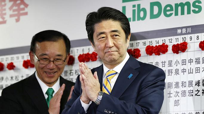 Abe on course for election win but record low turnout weakens his mandate